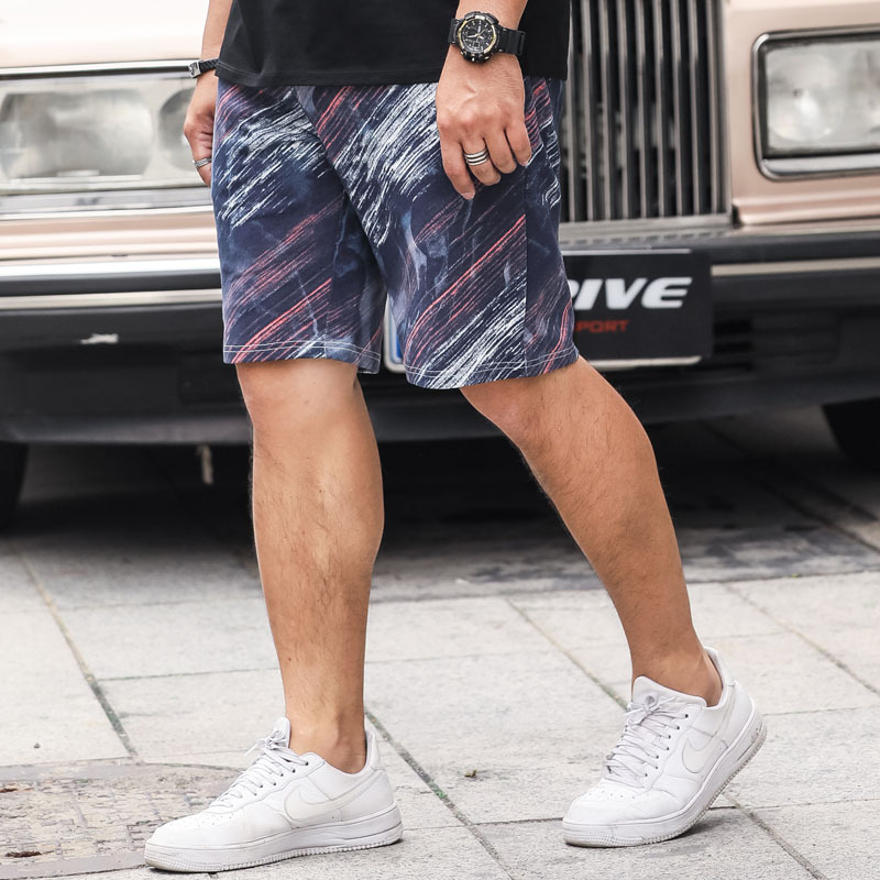 Summer Popular Brand Large Size Shorts Large Size Plus-sized Menswear Elastic Waist Straight-Cut MEN'S Athletic Shorts Sweatpant