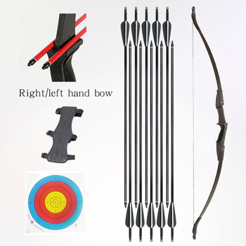30lbs / 40lbs recurve bow, archery bow, shooting, hunting bow, outdoor sports, left/right hand bow and arrow hunting accessories 40lbs straight bow for right hand and left hand 50 inches with arrows for youth archery hunting shooting child recurve bow