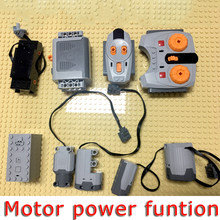 Technic Block Compatible Legoed Motor Power Functions Building Blocks 8883 Motor Part RF Receiver RC Speed Remote Control Toys(China)