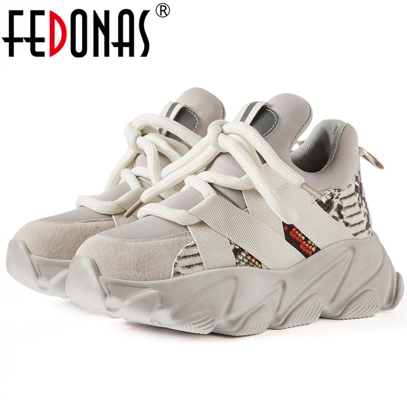 FEDONAS Big Size Female Flats Platform Sports Casual Shoes Woman Spring Women Cross Tied Flats Quality Women Breathable Sneakers