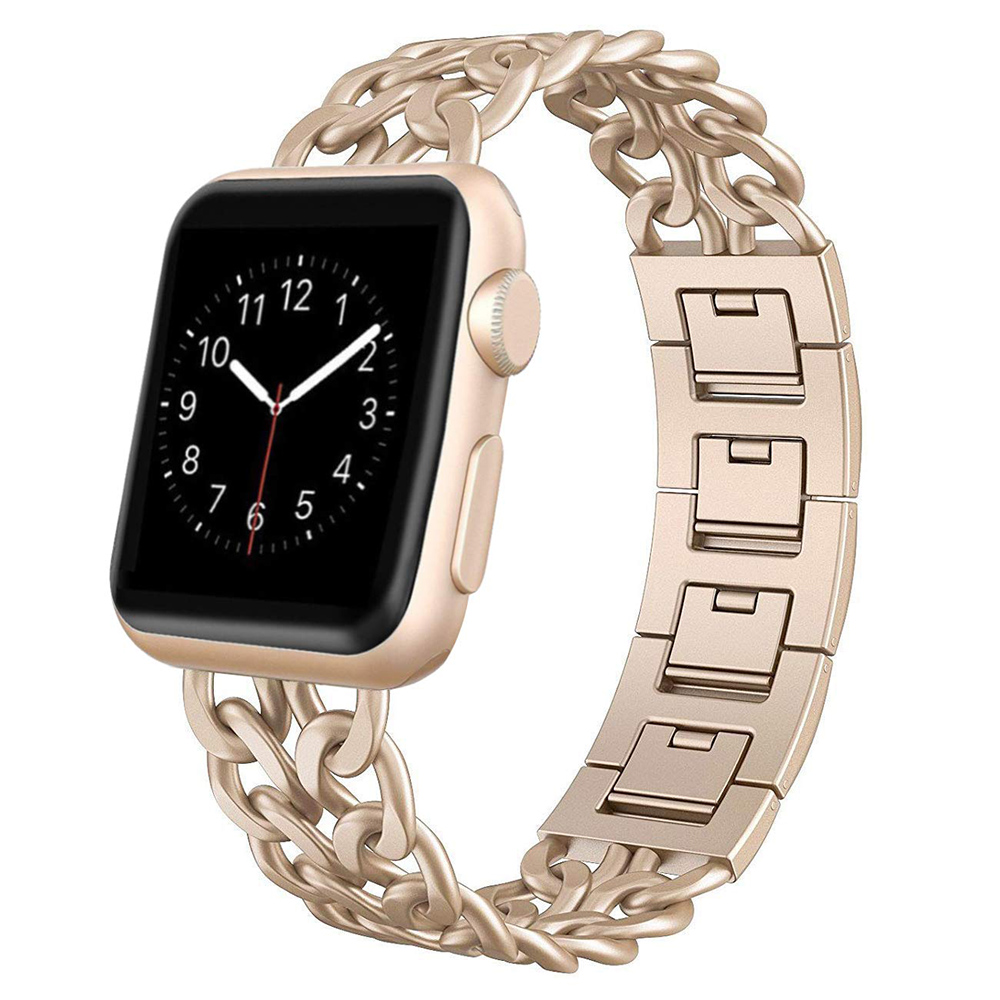 Stainless Steel Strap for Apple Watch series 5 4 40mm 44mm Band Metal Links Bracelet for iwatch series 1 2 3 strap 42mm 38mm(China)