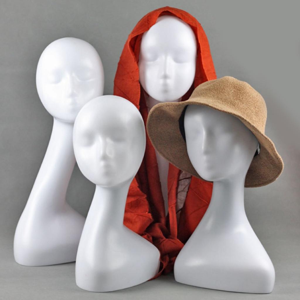 Женский манекен головы модели манекен головы шарф ювелирные изделия стекло Дисплей Держатель шляпа крышка стенд парик стойки