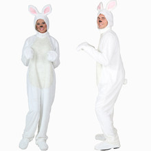White Bunny Costume Cosplay Adult Halloween Costume For Men Women Carnival Easter Rabbit Party Dress Up(China)