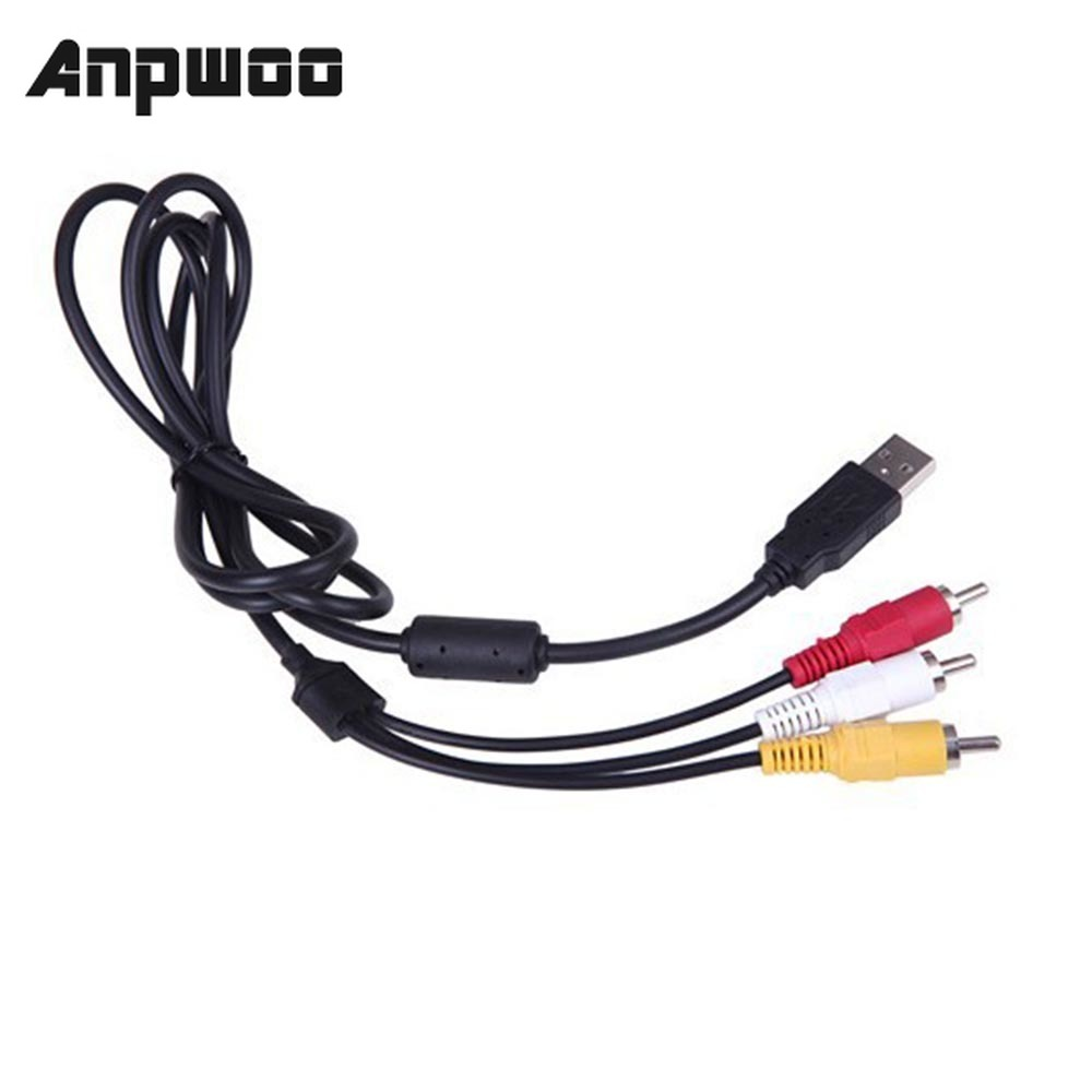 1.5M USB To RCA Cable USB 2.0 Male To 3 RCA Male Coverter Stereo Audio Video Cable Television Adapter Wire AV A/V TV Adapter