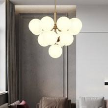Modern Simplicity LED Chandelier Lights Round Ball Indoor Fixtures For Bedroom Living Room Kitchen Decoration Personality Lamp