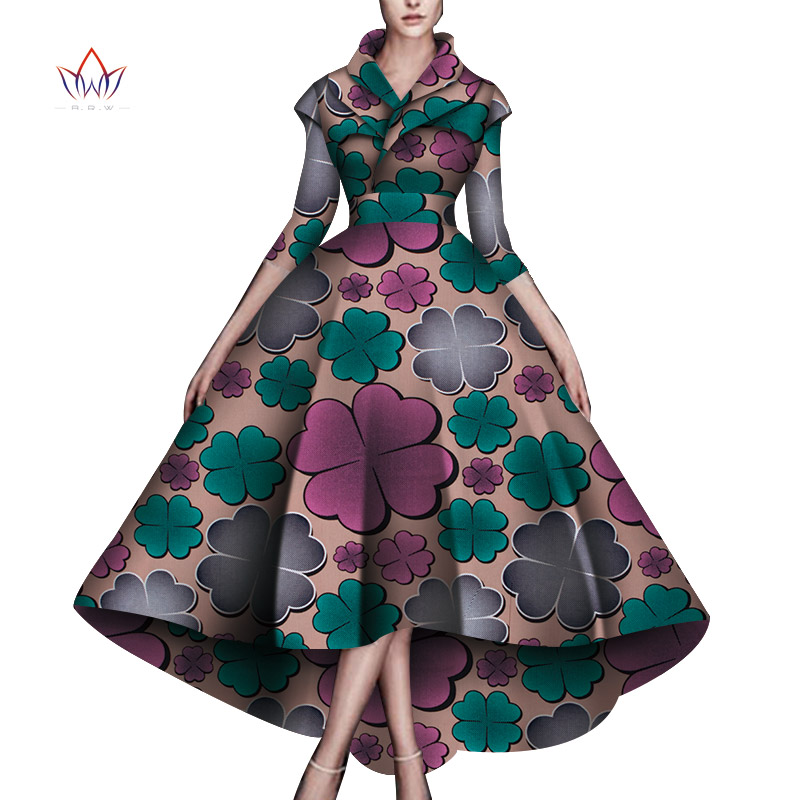 Dashiki African Dresses For Women Wedding Party  African Dresses For Women Ankle Length Dress African Women Clothes WY5951