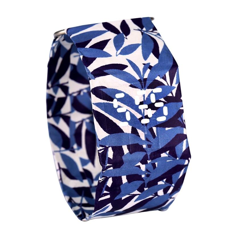 DuPont Paper Strap Paper Watch For Men Utility Quartz Watches For Women Fancy Leaves Pattern Wristwatch Gift Nice Bracelet