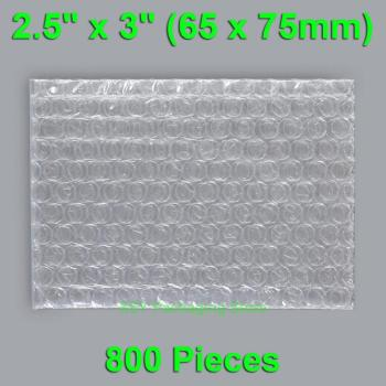 800 Pieces 2.5 x 3 (65 x 75mm) Small Bubble Bags Smooth On Both Sides Plastic Packing Envelopes Clear Packaging Pouches 500 pieces 2 5 x 3 65 x 75mm clear bubble bags small size plastic packing envelopes poly pouches mini package roll pack bag