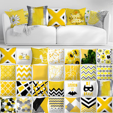 Cojines hoja de piña amarillo almohada de tiro sofá cojín de cintura de coche decoración del hogar fundas de almohada de kusenhoes de Coussin