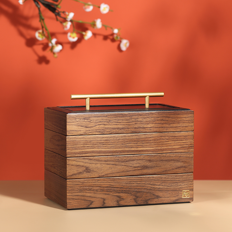 2020 Luxury Large Wooden Jewelry Box Organizer Multilayer Jewelry Storage Case Gift Casket Earring Ring Necklace