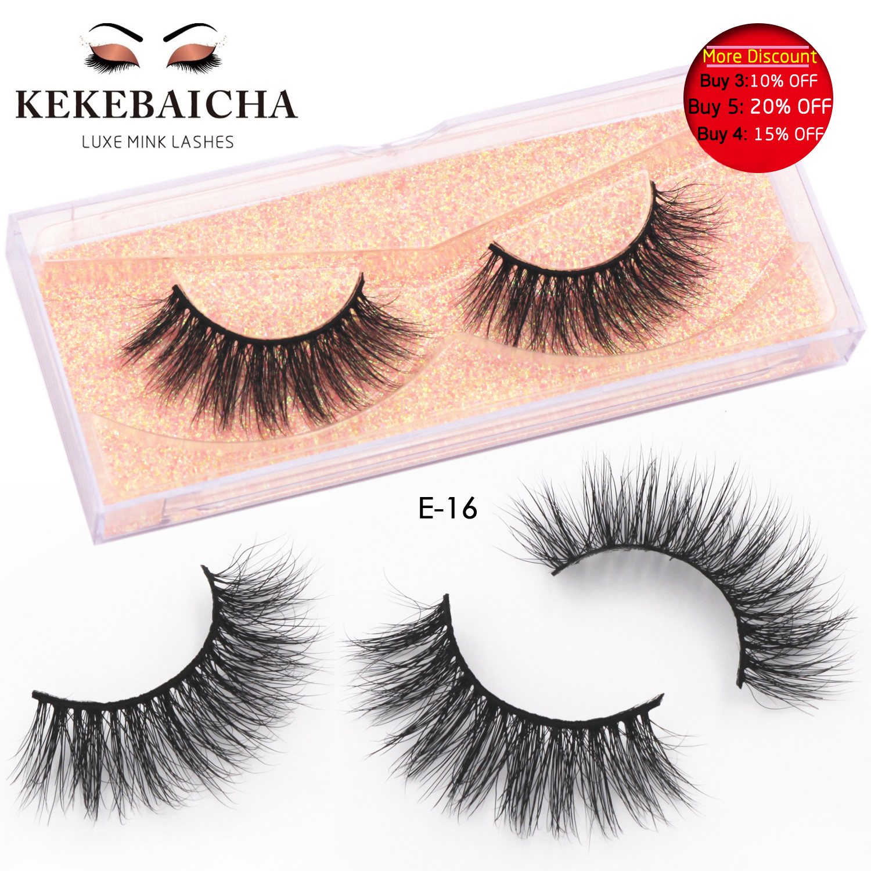 KEKEBAICHA Cosmetics Luxury 3D Mink Lashes Full Eyelashes Long Mink Eyelashes Natural Look Cruelty-Free False Eyelashes Makeup