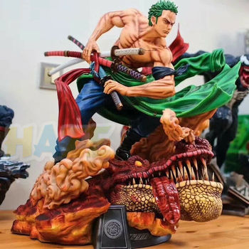 One Piece Roronoa Zoro Statue 1/4 PVC Action Painted Large Figure Model Toys Collection Anime Figure Toys Statue 42cm No Box anime 15th anniversary one piece animal series frog usopp sogeking figure model gifts toys collection model cartoon collectible