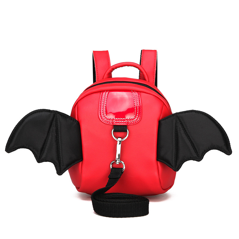 Lovely Cartoon Devil Wings Baby Harness Backpack Mini Nylon Baby Harness Backpack Birthday Gifts For Children For 2 Years Up