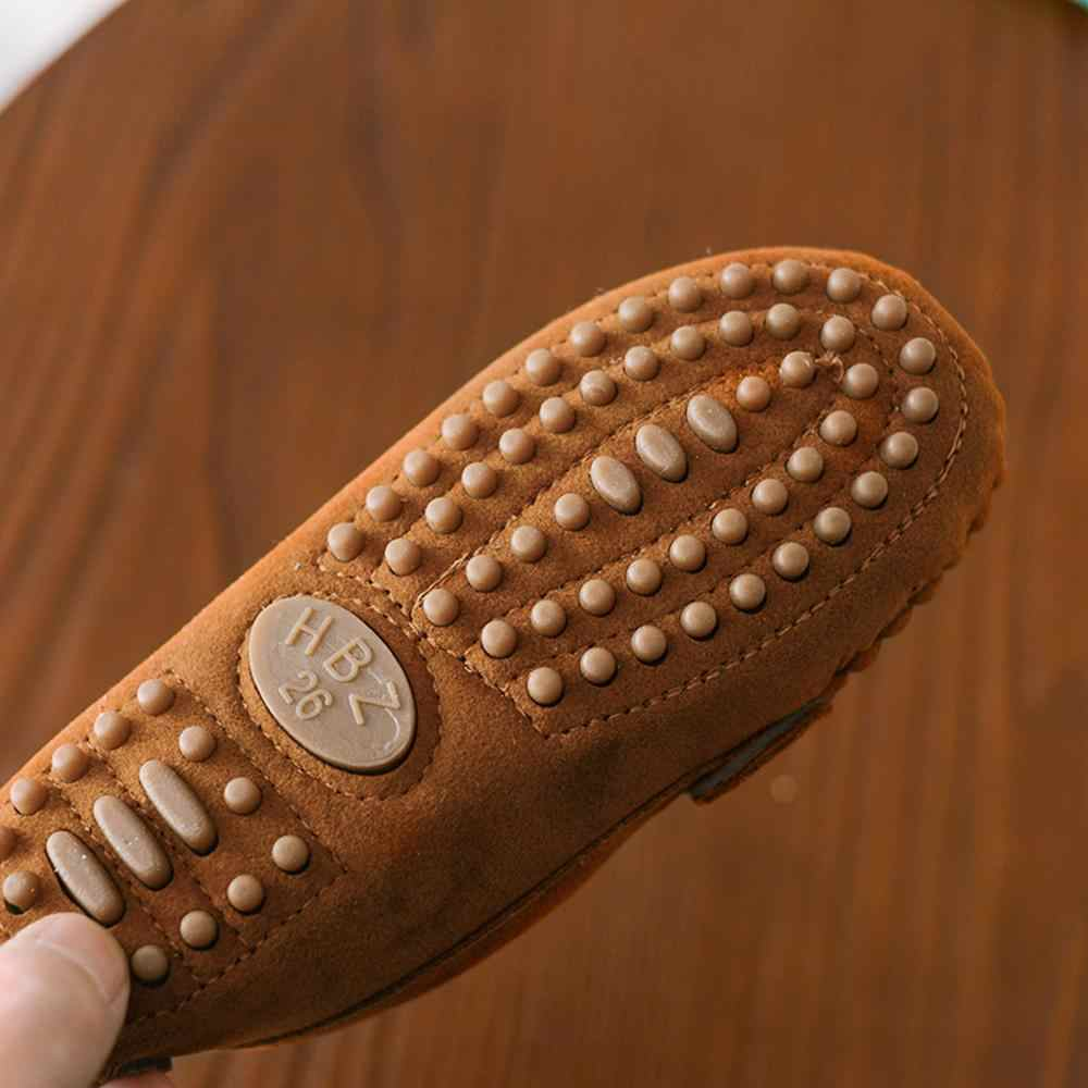 Çocuk erkek kız mokasen çocuklar ayakkabı düz renk yumuşak alt nefes alan günlük ayakkabılar kovboy tarzı serin ayakkabı çocuklar Zapatillas