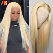 Remy 613 Blonde Lace Frontal Human Hair Wigs 150% Brazilian Straight Hair 13x4 Transparent Lace Front Wigs With Baby Hair