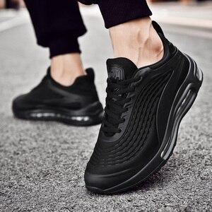 Image 5 - 2020 אופנה שחור להחליק על לנשימה באיכות גבוהה גברים סניקרס נוח מקרית להחליק על נעלי זכר מגפיים אדם רץ