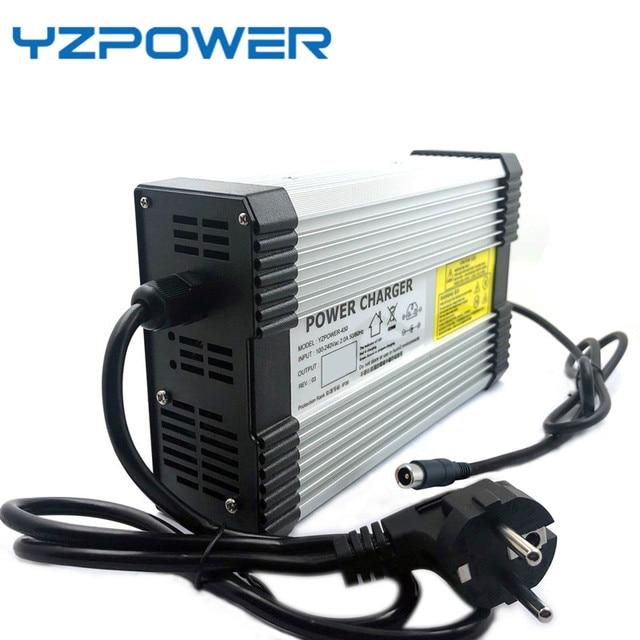 YZPOWER 54,6 V 4.5A 5A 5.5A 6A 6.5A 7A 7.5A 8A литий ионная Lipo батарея зарядное устройство Выход DC вход 100 240 В