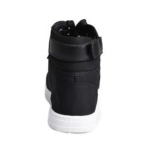 Image 5 - אופנה נעלי ספורט גברים בד נעליים גבוהה למעלה זכר מותג הנעלה גברים של נעליים יומיומיות אופנה שחור סניקרס
