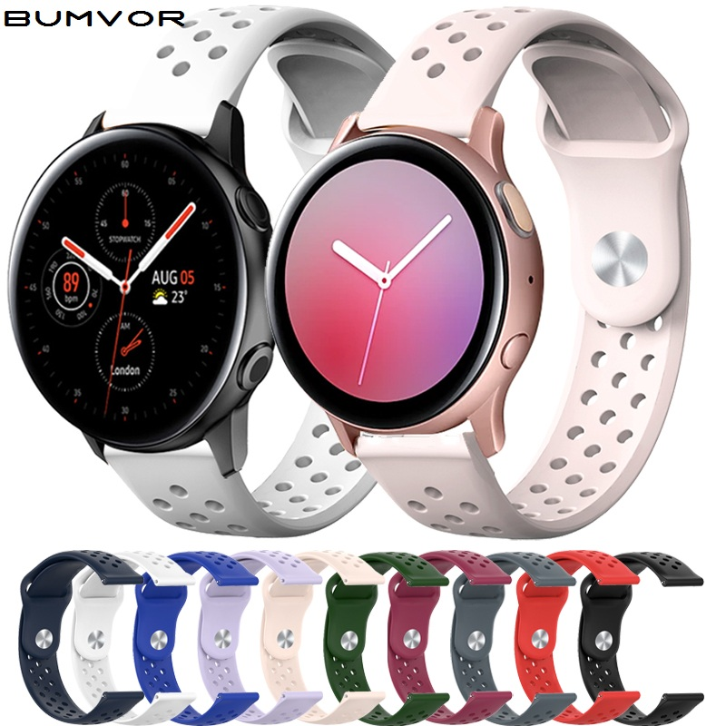 20mm Silicone Strap For Samsung Galaxy Watch Active 2 42mm Gear S2 Sport Replacement Bracelet Watchband For SM-R830 SM-R820 2019