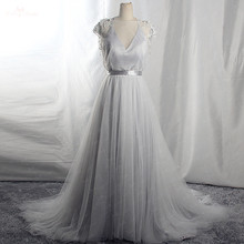 Rsw1656 fotos reais frisadas borla robe de mariee 2 em 1 vestido de lavanda
