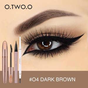 Image 4 - O.TWO.O 5 pçs conjunto de maquiagem dos olhos incluem sobrancelha rímel delineador cobertura completa corretivo líquido uso highlighter como sombra