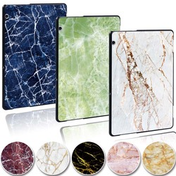KK & LL pour Huawei MediaPad T5 10 AGS2-L09/W09/L03-tablette en plastique marbre modèle mince support housse