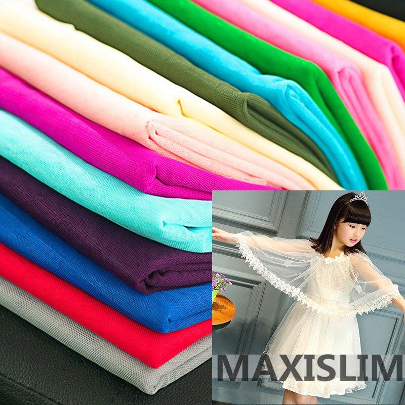 5Yards DIY 30A Soft Mesh FabricEncrypted Mesh Fabric Mosquito Net Fabric Six-sided Mesh Gown Wedding Dress Tutu Fabric Wide160cm