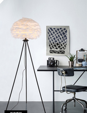 Nordic modern E27 floor lamp for Dining room Living room tripod lamp indoor home Designer feather floor lamp