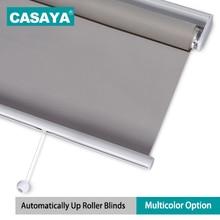 35 мм трубчатая пружинная система рулонные шторы затемненные полиэфирные ткани безопасные для детей беспроводные оконные шторы для офиса/дома/кухни