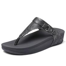 EOFK New Women Flip Flops Summer Flat Platform Shoes Woman Outside Fashion Slippers Women Footwear Grey Concise Pearl Rubber