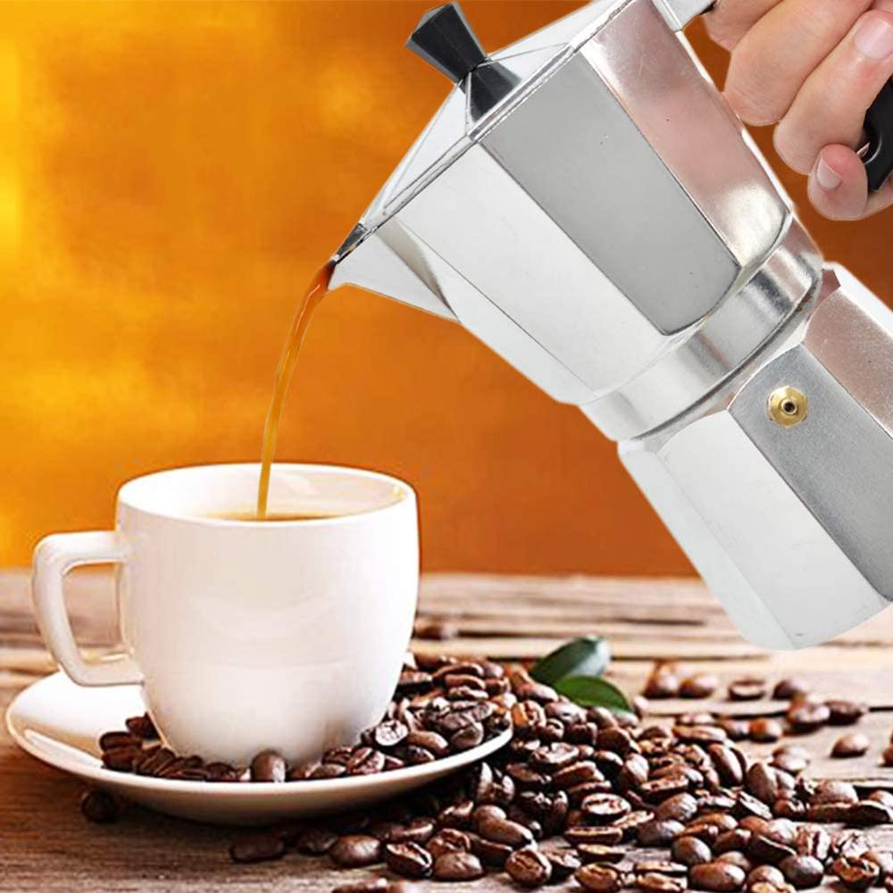 Aluminum Coffee Pot 3Cup//6Cup//9Cup//12Cup Coffee Maker Espresso PercolatorA1☆