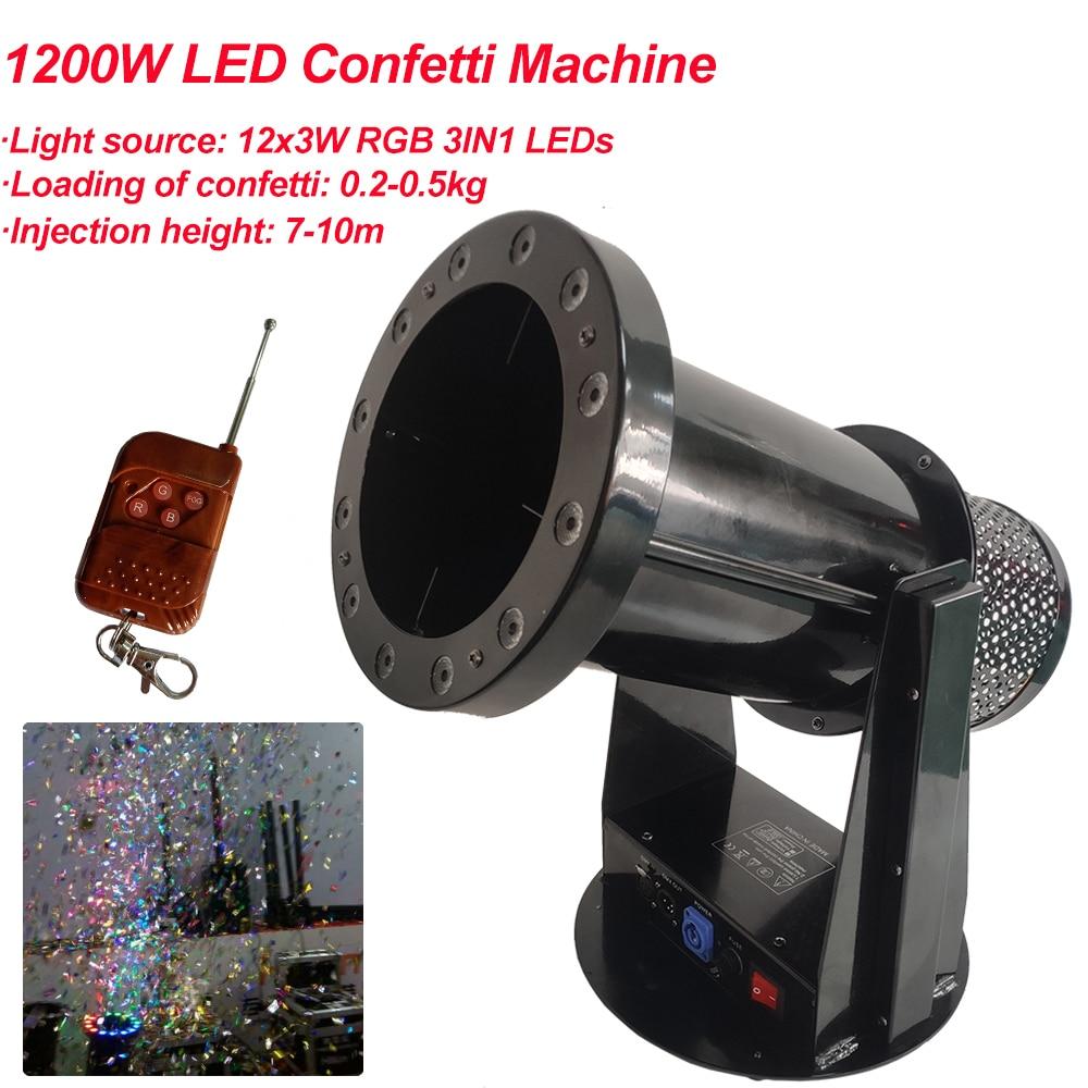 Бесплатная доставка Высокое качество 1200 Вт Led свадебная машина для конфетти cannon свадебная машина конфетти машина для вечерние сцены