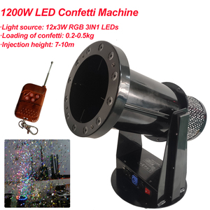 Image 1 - Free Shipping High quality 1200W Led Wedding Confetti Cannon Machine Wedding Machine Confetti Machine for Party Stage