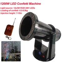 Máquina de confeti con cañón de confeti Led de 1200W de alta calidad con envío gratis  máquina para bodas  máquina de confeti para fiestas|Efecto de iluminación de escenario| |  -