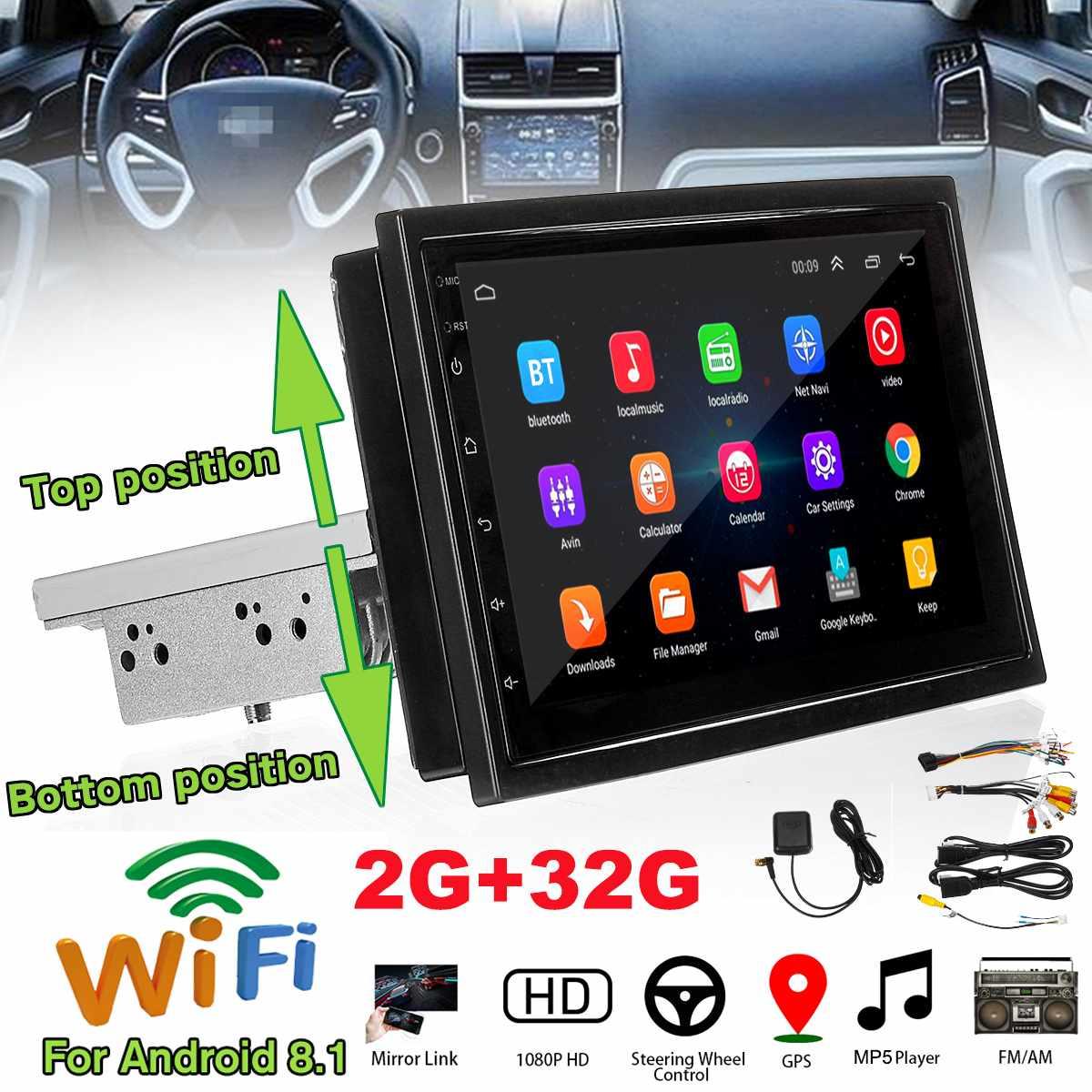 Car Radio 1 Din Car Radio Bluetooth Wifi Car Player Navigation All-in-One Machine Android 8.1 32G Memory Car Radio Mirror 7 Inch