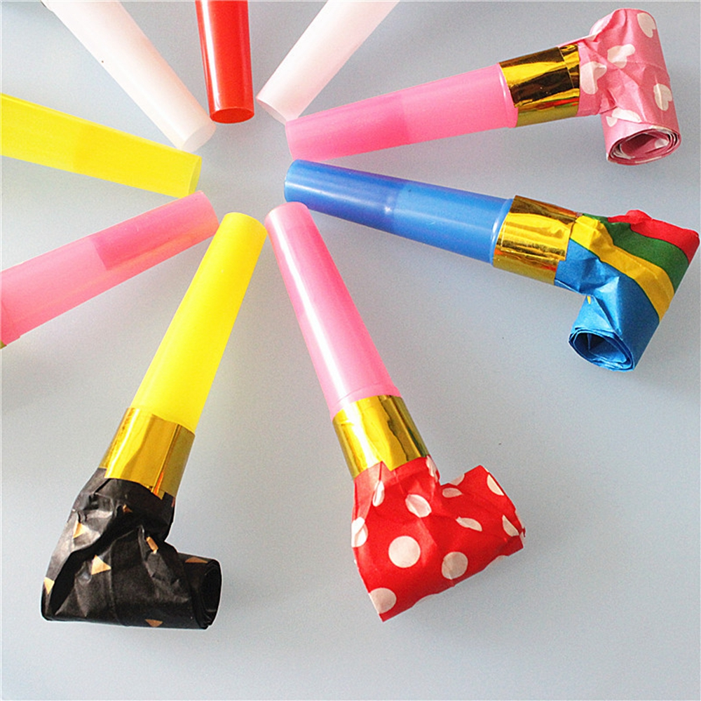 A New Plastic Paper Whistle For Children Whistles Birthday Party Trumpets To Cheer Up The Little Toy Goody Bag Pinata