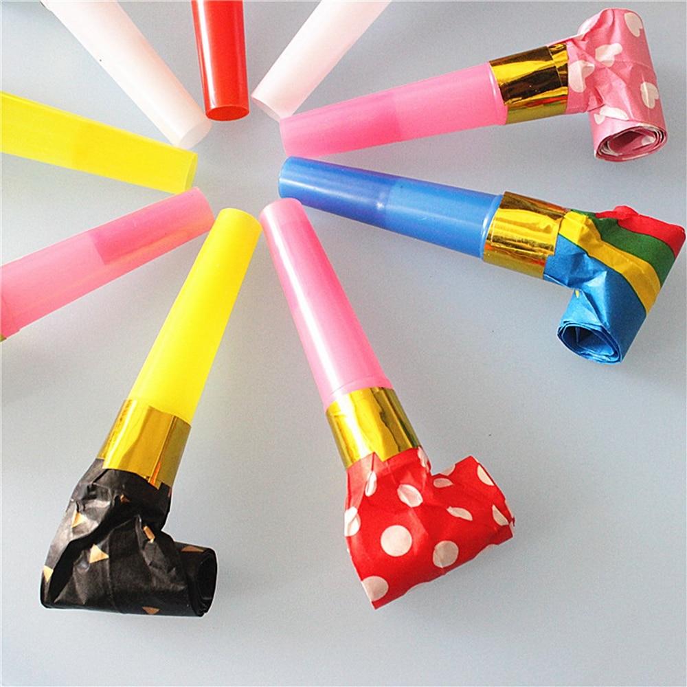 5Pcs//lot Plastic Whistle Lanyard Children Kids Party Bag Filler Toys UK BE