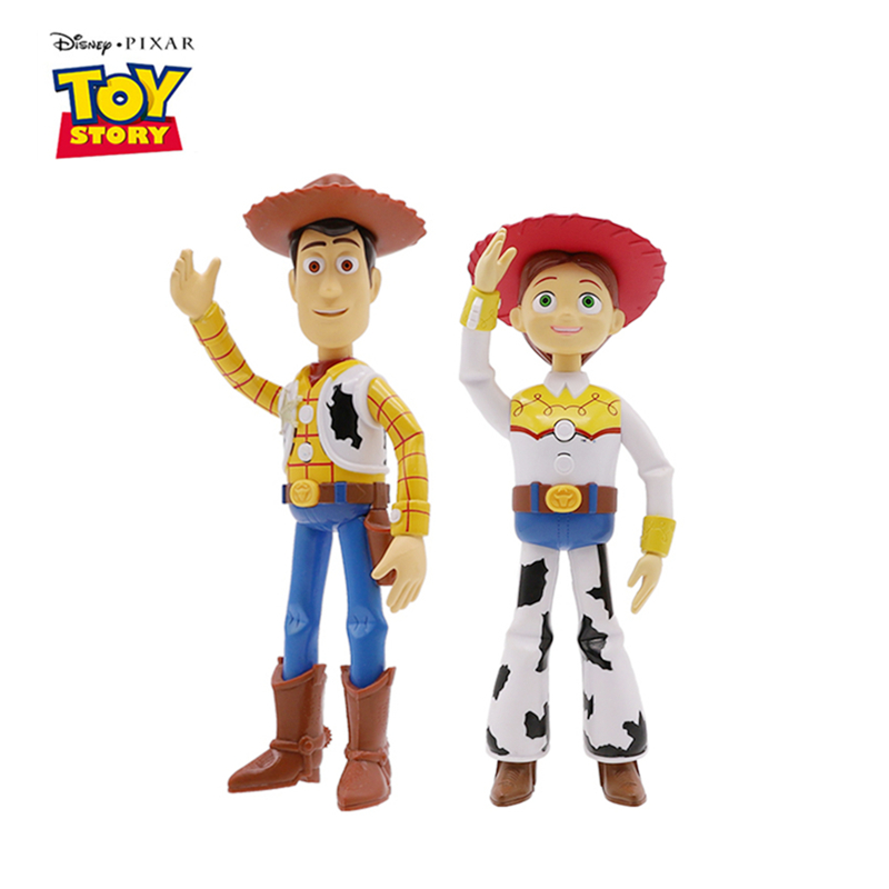 Original Disney Pixar Toy Story 4 English-Japanese Talking Friends Woody Jessie Anime Figure Action Model Doll Toy Kids Gifts image