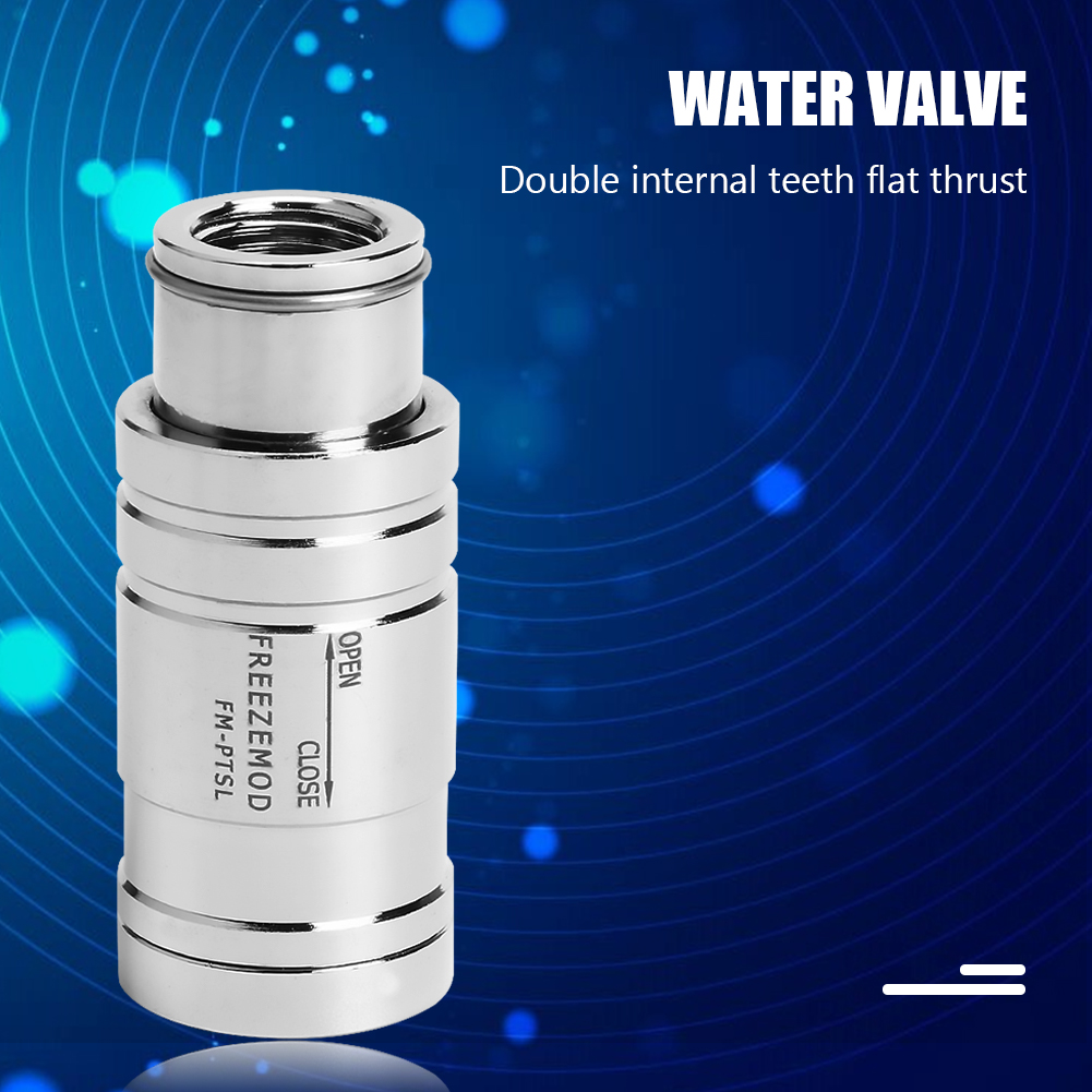 FM-PTSL Dual Internal G1/4 Tooth Flat Push Stop Valve Copper Water Tank Computer components and accessories