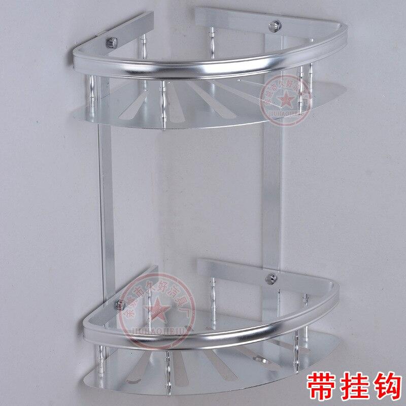 Fine Buffing Thick Alumimum Double Layer Corner Storage Shelf Kitchen Pendant Direct Selling