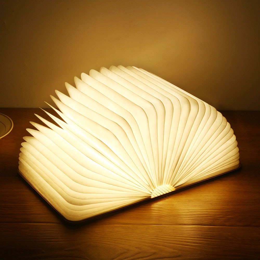 Permalink to Led USB Lamp Book LED Night Light Leather 5V USB Rechargeable Magnetic Foldable Desk Table Lamp 3color Home Decoration