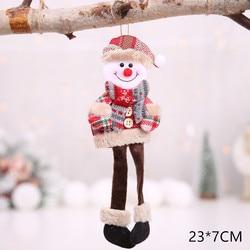 New Year 2020 Cute Santa Claus/Snowman/Angel Christmas Dolls Noel Christmas Tree Decoration for Home Xmas Navidad 2019 Kids Gift 2