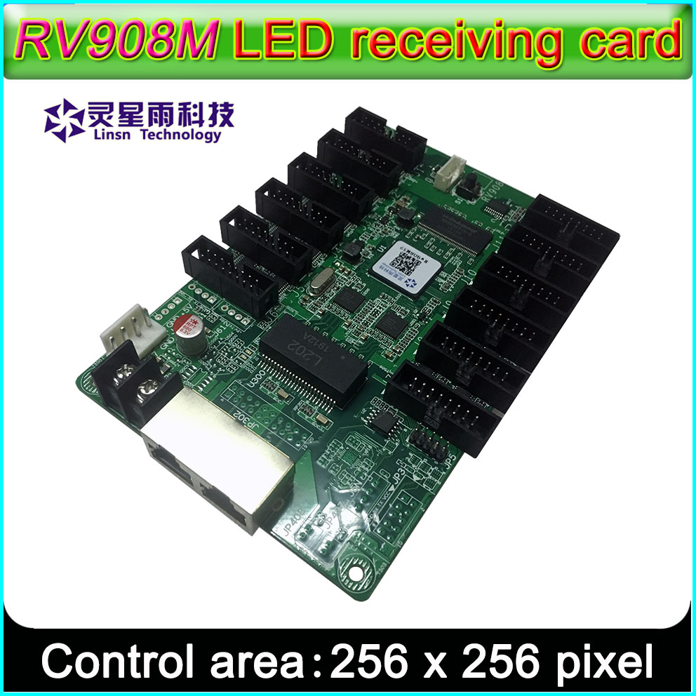 LINSN RV908M32 Receiving Card LED Display Control System,Suggest 1/32 Scan Full-color P2.5 P3 P4 P5 P10 LED Module