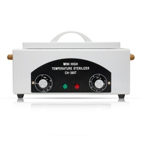 Nail Art Equipment High Temperature Sterilizer Box With Hot Air Disinfection Cabinet For Nail Art Tool Eu Plug