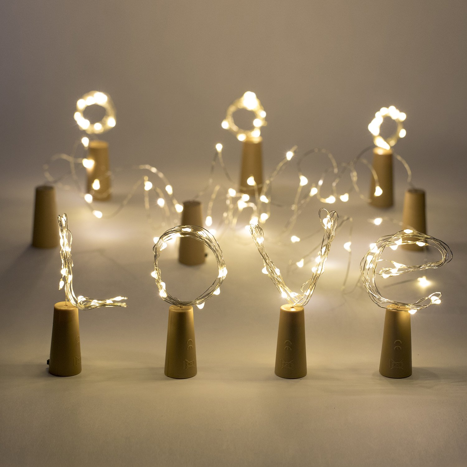 LED Wine Bottle String Lights Cork Shaped Glass Stopper Lamp Christmas DIY for New YearChristmas Valentines Wedding Decoration