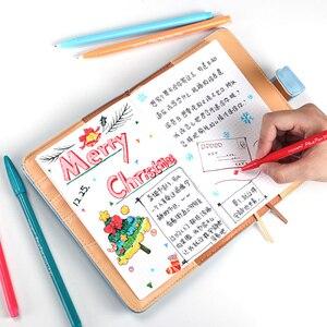 Image 4 - Stylos de bureau à pointe en feutre à base deau, 36 couleurs, 0.4mm, stylo signe, peinture, livres de coloriage pour étudiants et adultes