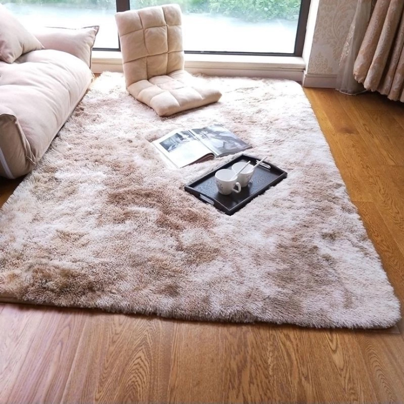 Gradient Plush Carpet Nordic Modern Style Rugs Motley Tie Dyed Living Room Coffee Table Mats Comfortable Non-slip Floor Pad