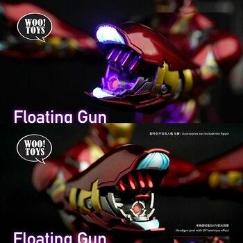 Juego de accesorios de pistola flotante woo toys MK50, conjunto de pistola de mano brillante UV, equipo de Iron Man adecuado para modelos masculinos de 12 pulgadas en stock