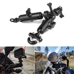 Motorcycle Camera Holder Bike Handlebar Mirror Mount Bracket For HONDA CB1000R ST1100 SH 125I SILVER WING BLACKBIRD CBR1100XX