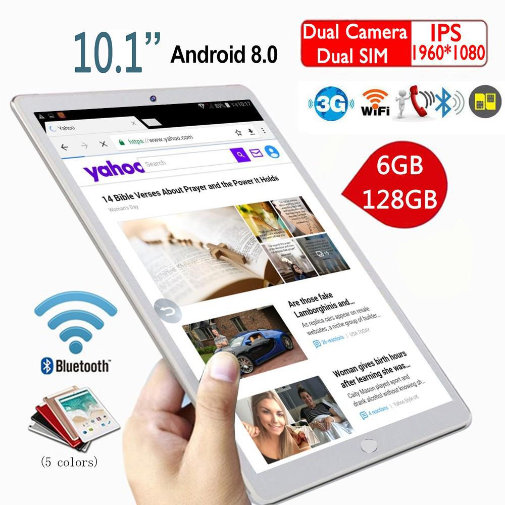2020 10.1 Inch Ten Core 6G+128GB WiFi Tablet PC 1280*800 IPS Screen  Android 8.0 Dual SIM Dual Camera Rear 5.0MP IPS 4G Phone